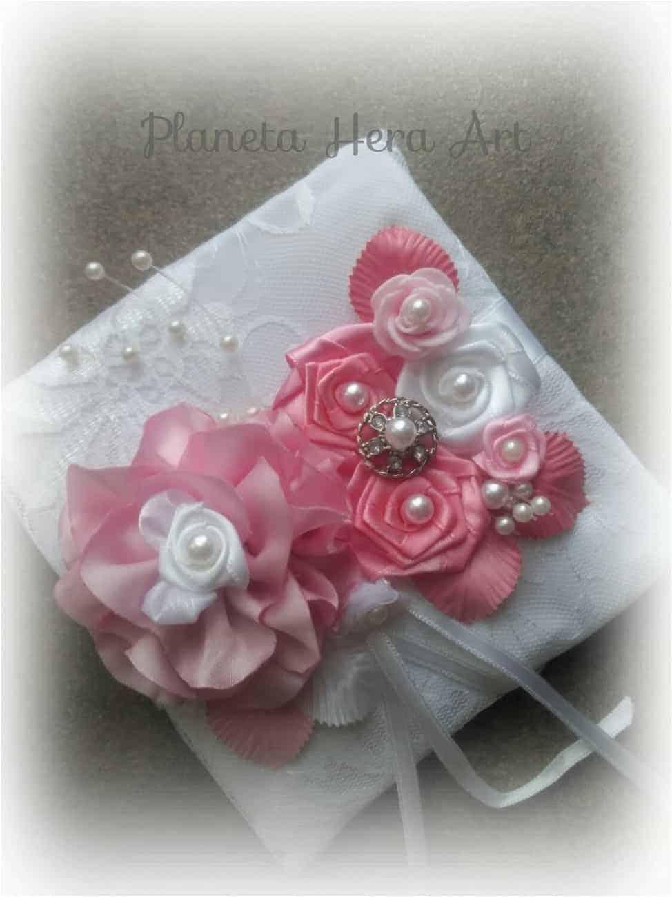 възглавничка за халки, в розово